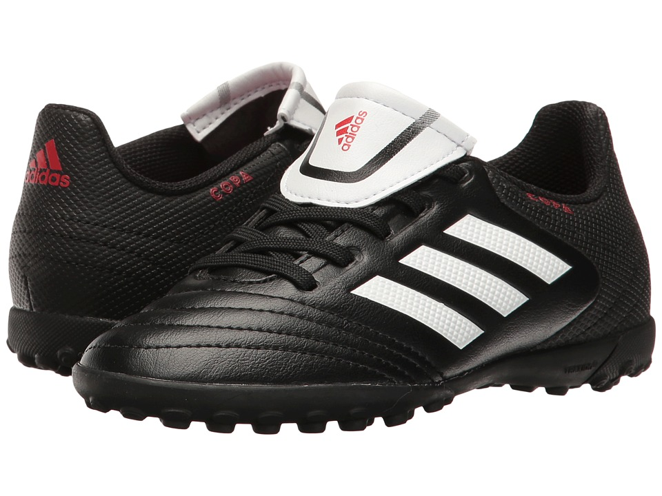 adidas Kids Copa 17.4 TF Soccer (Little Kid/Big Kid) (Core Black/Footwear White) Kids Shoes