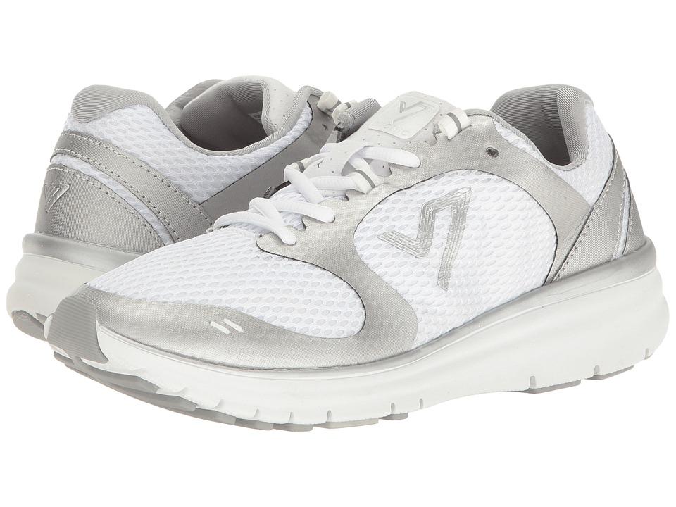 Vionic Elation 1 (White/Silver) Women's Slip on  Shoes
