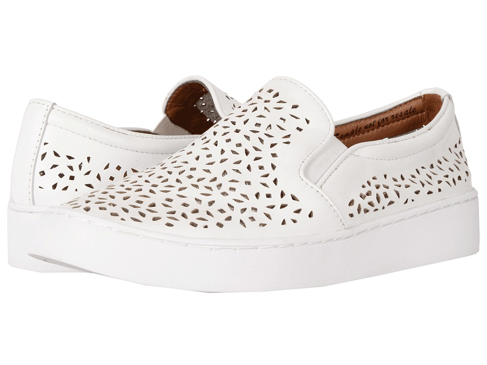 VIONIC Midi Perf (White Perfed Leather) Slip-On Shoes