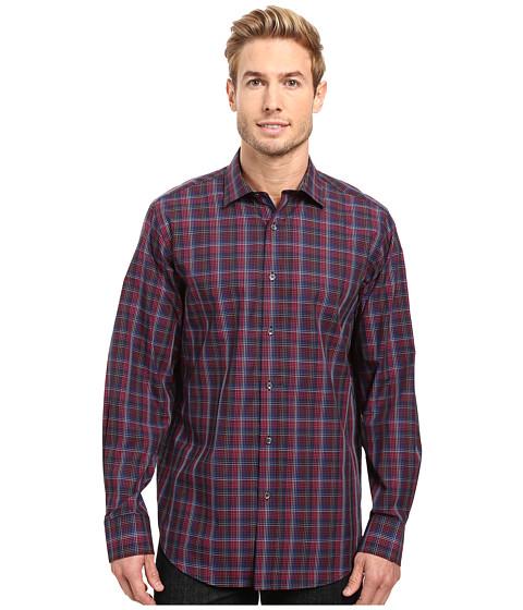 BUGATCHI Lino Long Sleeve Woven Shirt - Black