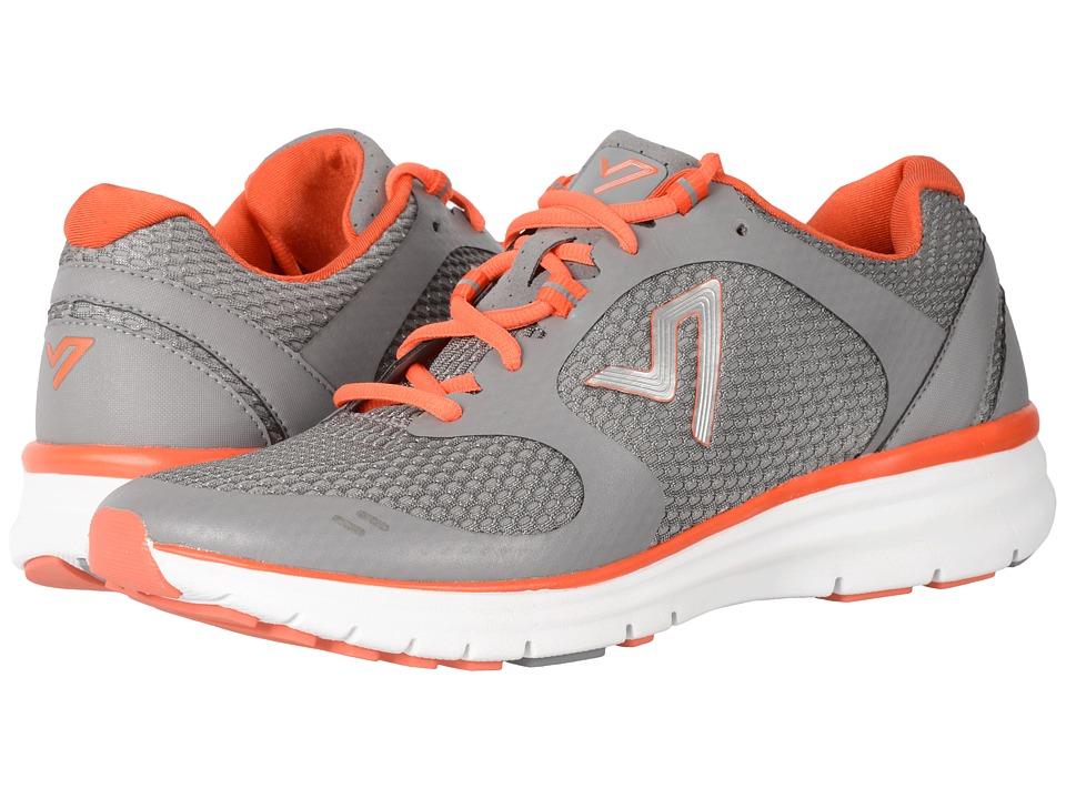 Vionic Ngage 1 (Grey Open Mesh/Orange) Men's Walking Shoes