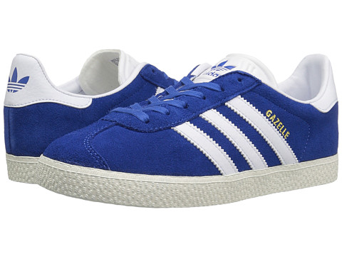 adidas Originals Kids Gazelle (Big Kid) - Blue/White/Gold