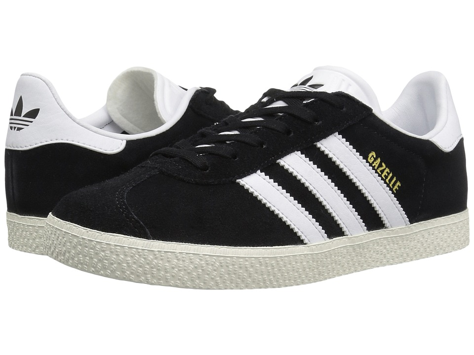 adidas Originals Kids Gazelle (Big Kid) (Black/White/Gold) Kids Shoes