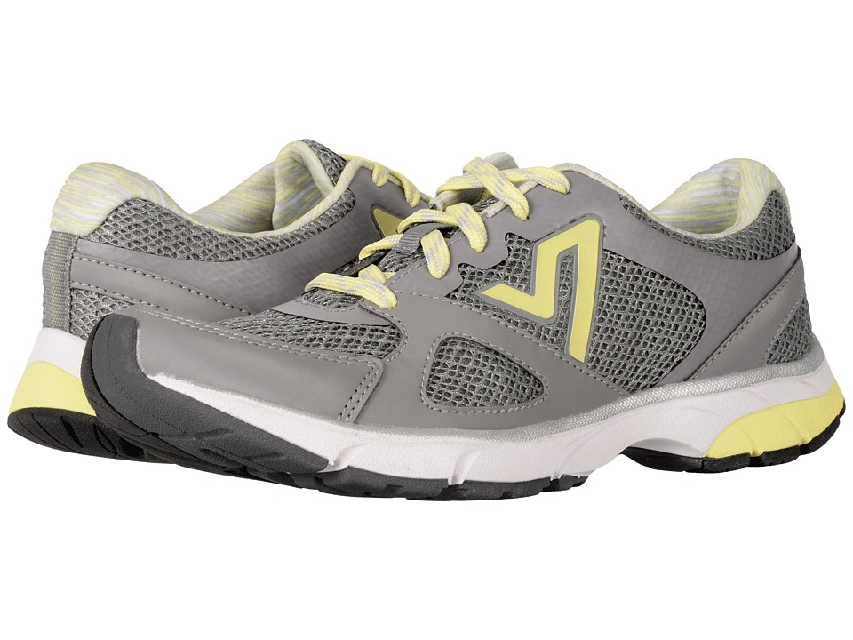 Vionic Satima (Mid Grey/Pale Lime Yellow) Women's Lace up...