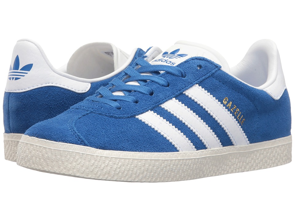 adidas Originals Kids Gazelle (Little Kid) (Blue/White/Gold) Kids Shoes