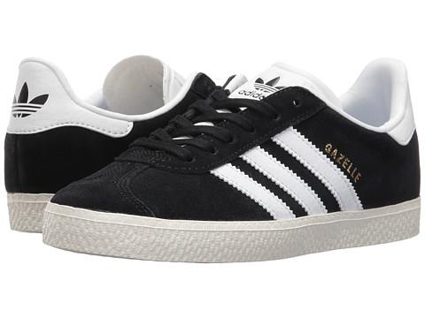 adidas Originals Kids Gazelle (Little Kid) - Black/White/Gold