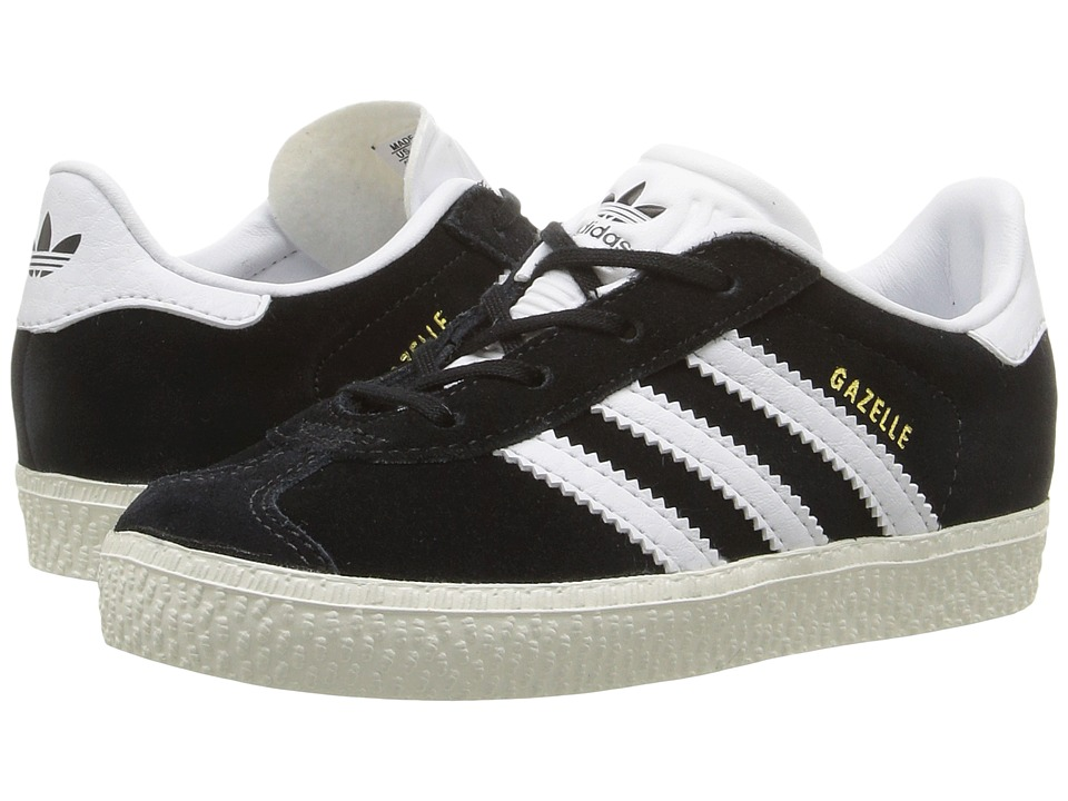 adidas Originals Kids Gazelle (Toddler) (Black/White/Gold) Kids Shoes