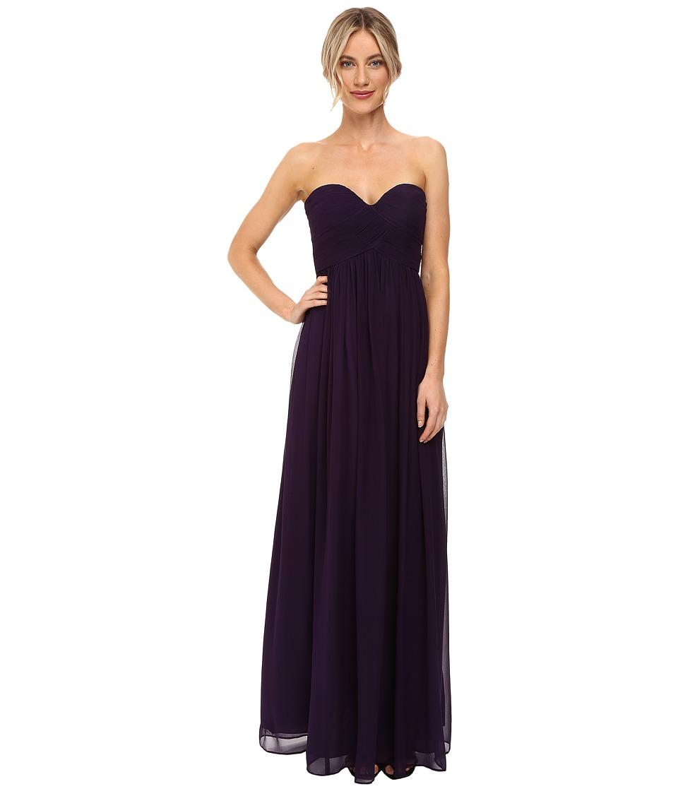 Donna Morgan Laura Long Chiffon Gown Dress (Amethyst) Women