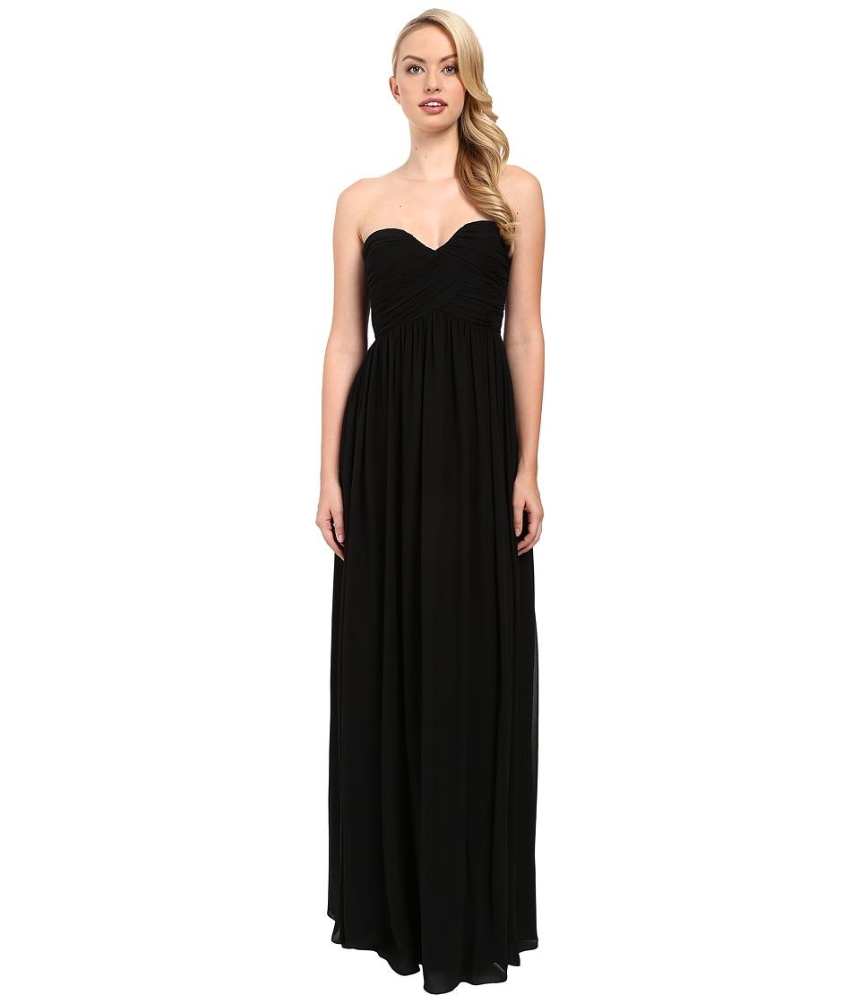 Donna Morgan Laura Long Chiffon Gown Dress (Black) Women