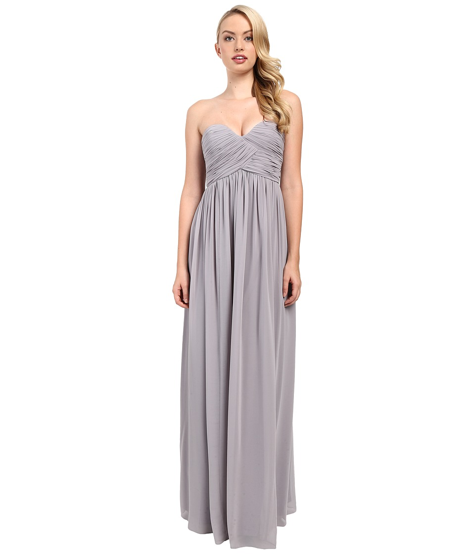 Donna Morgan Laura Long Chiffon Gown Dress (Sterling) Wom...