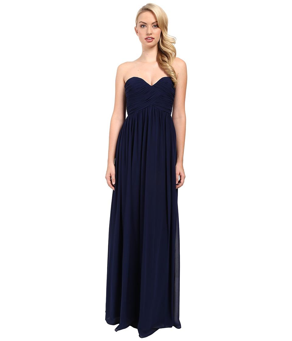 Donna Morgan Laura Long Chiffon Gown Dress (Midnight) Women
