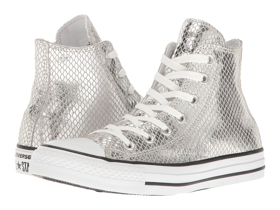Converse Chuck Taylor All Star Metallic Snake Hi (Silver/Black/White) Women