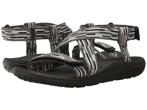 Teva Kids Terra-Float Livia (Little Kid/Big Kid) - Tacion Black/White