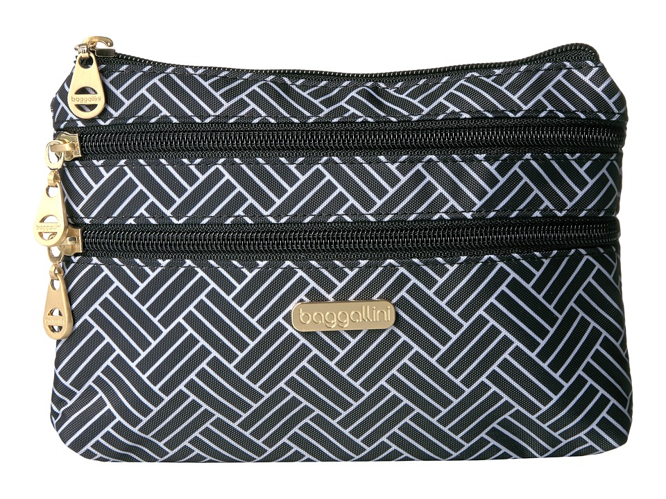 Baggallini Shanghai 3 Zip Case (Basket Weave) Cosmetic Case
