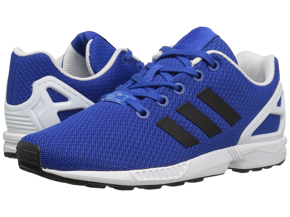 adidas Originals Kids ZX Flux (Big Kid) (Blue/Core Black/Footwear White) Boys Shoes