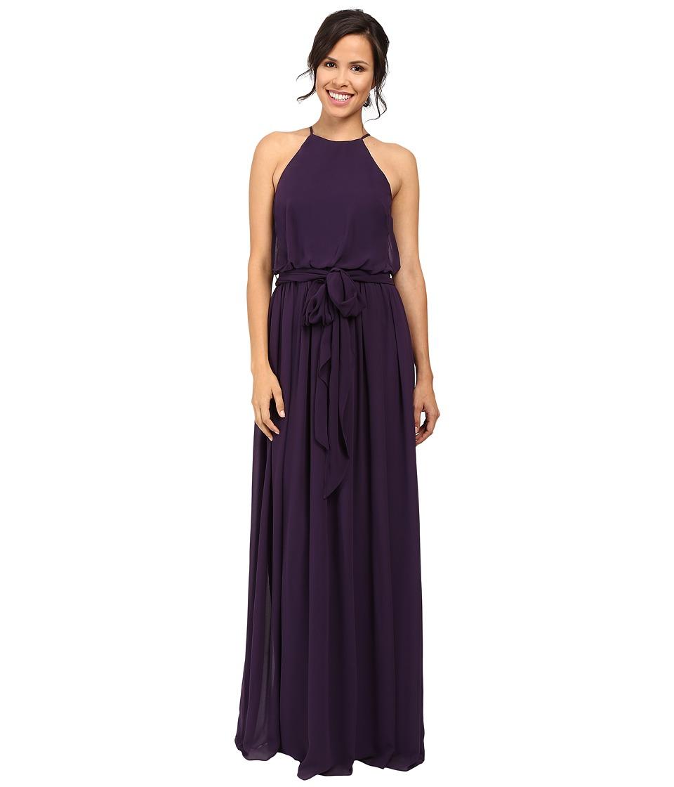 Donna Morgan Alana Drape Blouson Gown (Amethyst) Women