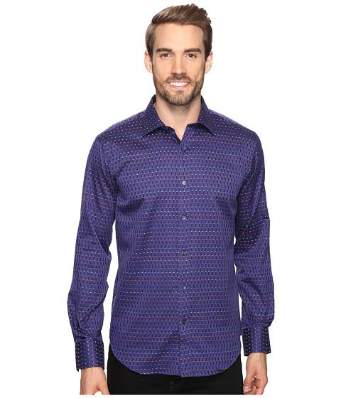 BUGATCHI Luka Long Sleeve Woven Shirt - Eggplant