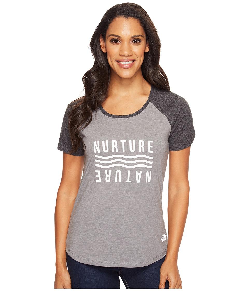 The North Face Short Sleeve Nurture Baseball Tee (TNF Medium Grey Heather/TNF Dark Grey Heather) Women