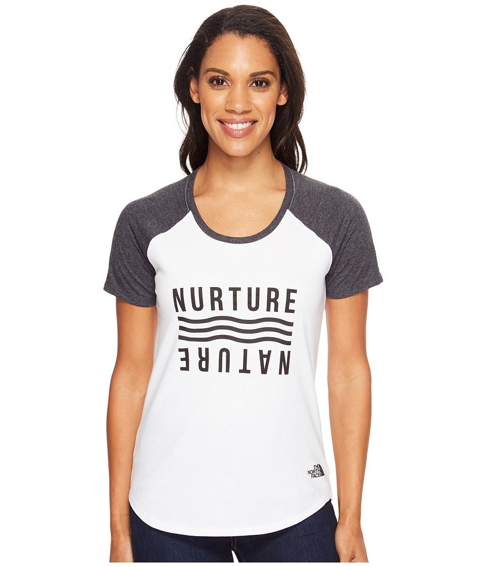 The North Face Short Sleeve Nurture Baseball Tee (TNF White/TNF Black Heather) Women