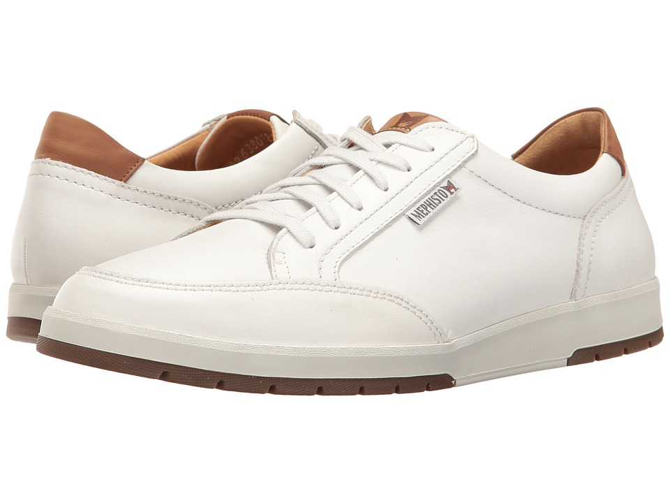 Mephisto Ludo (White/Hazelnut Mano) Men