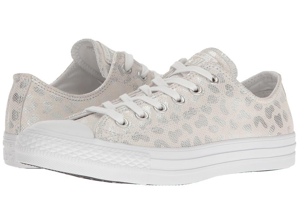 Converse Chuck Taylor All Star Brea Animal Glam Textile Ox (White/Silver/White) Women