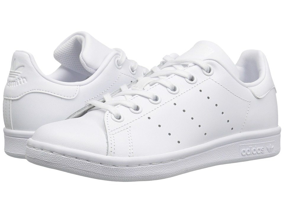 adidas Originals Kids Stan Smith (Big Kid) (Footwear White/Footwear White) Kids Shoes