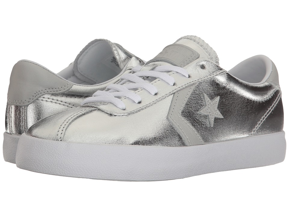 Converse Breakpoint Metallic Canvas Ox (Silver/White/White) Women