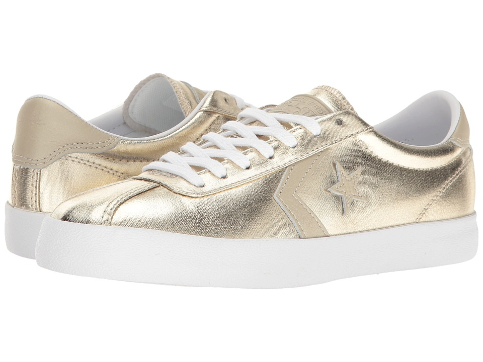 Converse Breakpoint Metallic Canvas Ox (Light Gold/White/White) Women