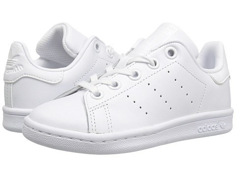 adidas Originals Kids Stan Smith (Little Kid) - Footwear White/Footwear White/Footwear White