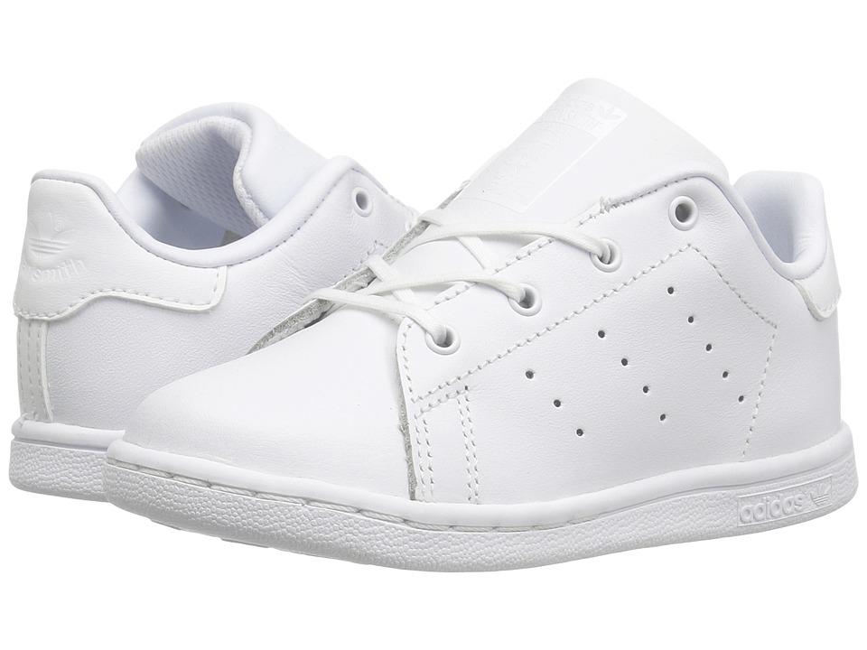 adidas Originals Kids Stan Smith (Toddler) (Footwear White/Footwear White/Footwear White) Kids Shoes