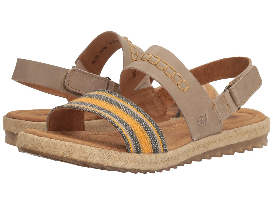 Born - Vigan (Light Grey Striped Fabric Combo) Womens Sandals