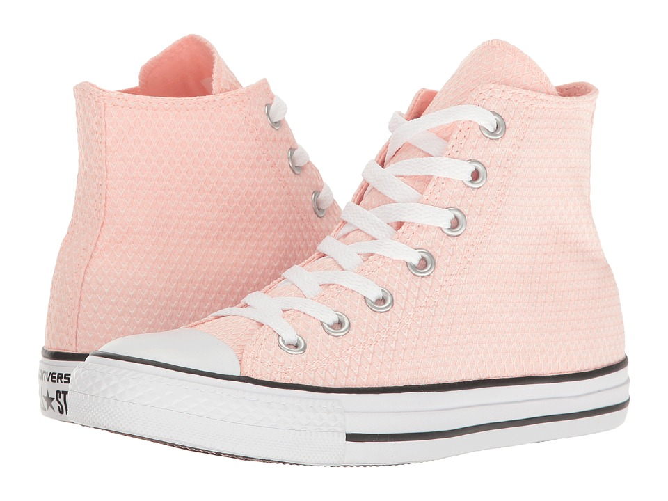 Converse - Chuck Taylor All Star Snake Woven Textile Hi (White/Vapor Pink/White) Womens Classic Shoes