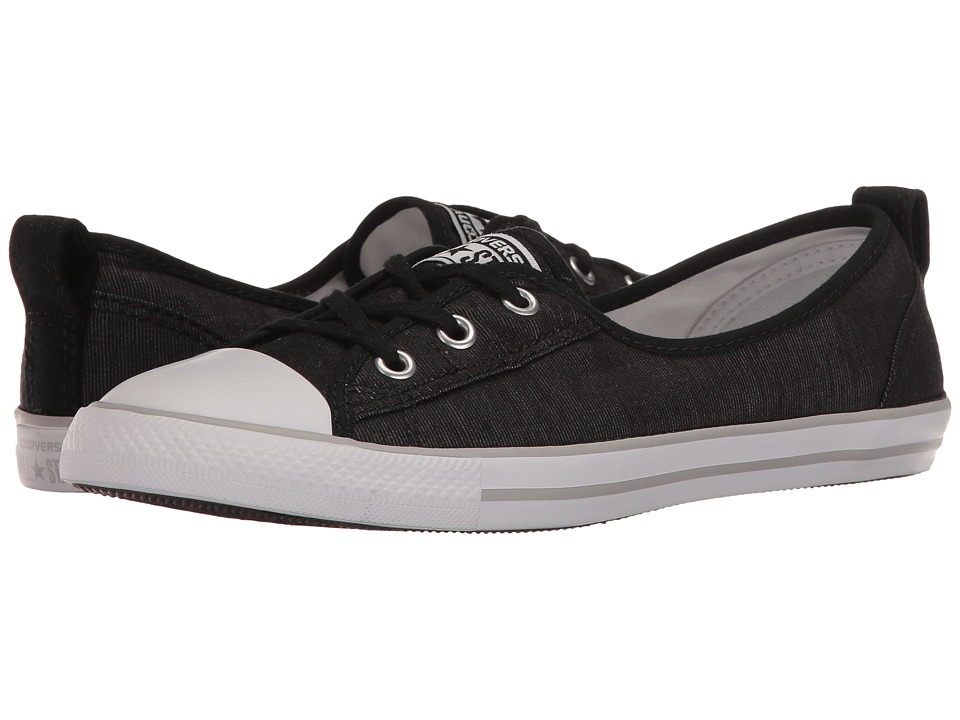 Converse Chuck Taylor All Star Ballet Lace Slip-On (Black/White/Mouse) Women
