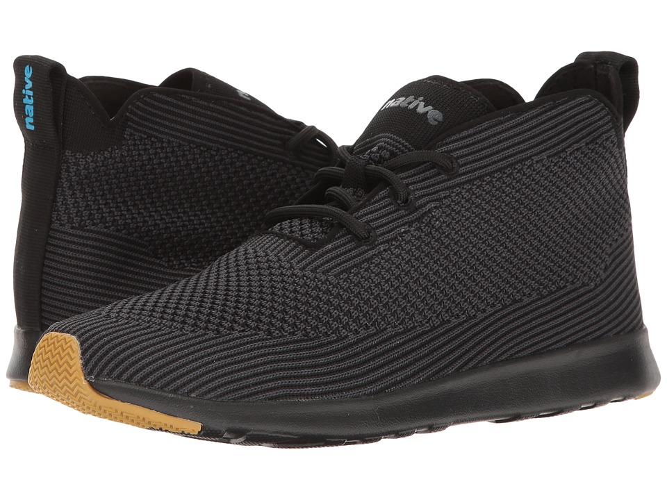 Native Shoes - AP Rover Liteknit (Jiffy Black/Jiffy Black/Natural Rubber) Athletic Shoes