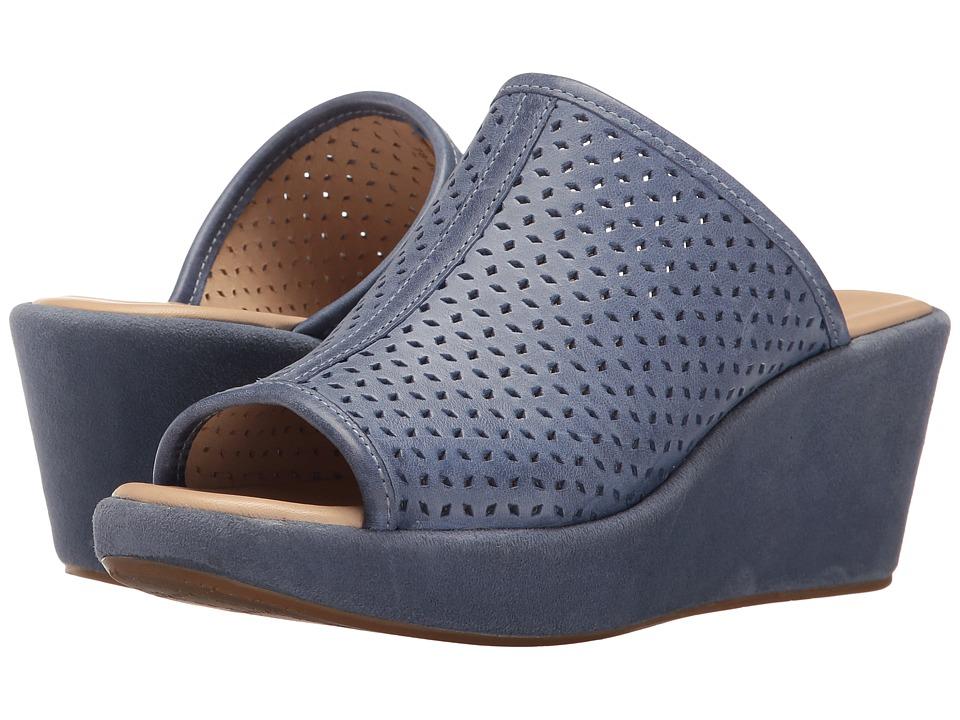 Johnston & Murphy Delaney (Blue Italian Waxy Leather) Women