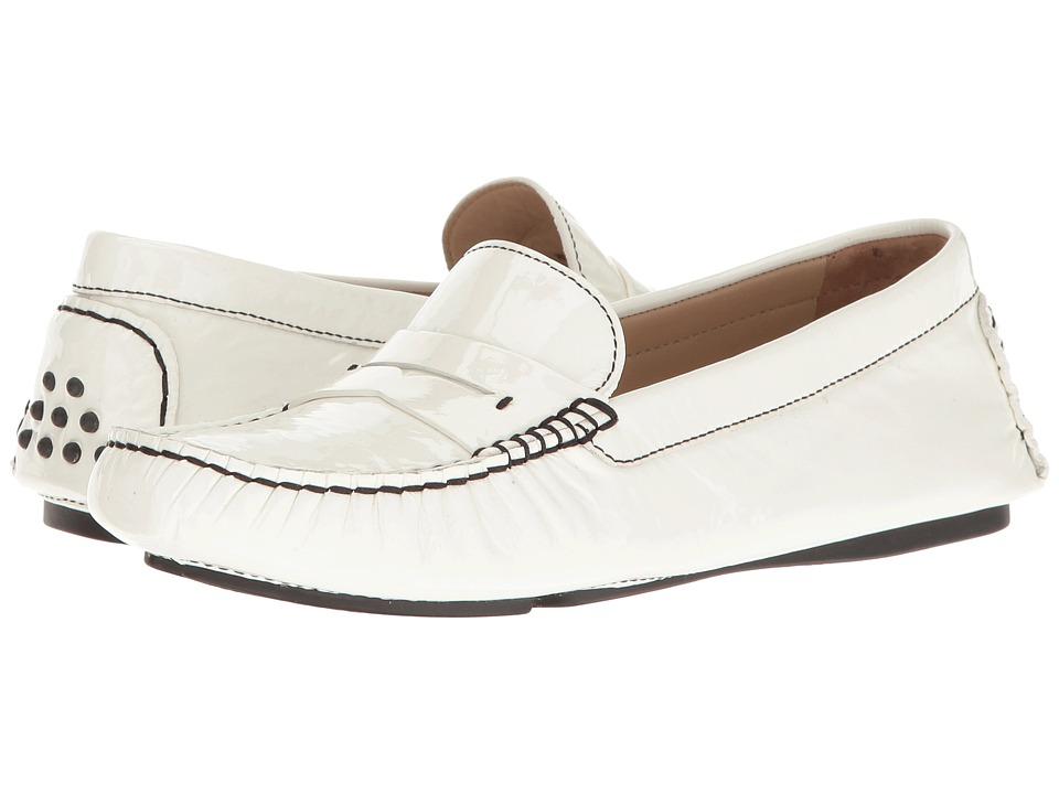 Johnston & Murphy Maggie Penny (White Italian Soft Patent Leather) Women
