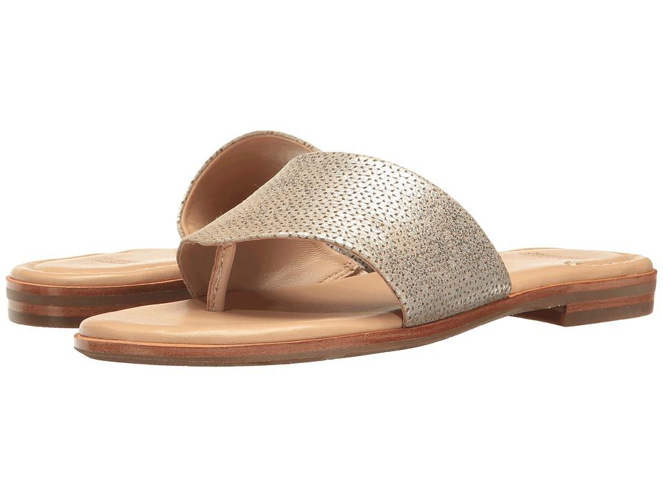 Johnston  +  Murphy - Raney (Gold Laser Cut Italian Metallic Silver) Women's Sandals