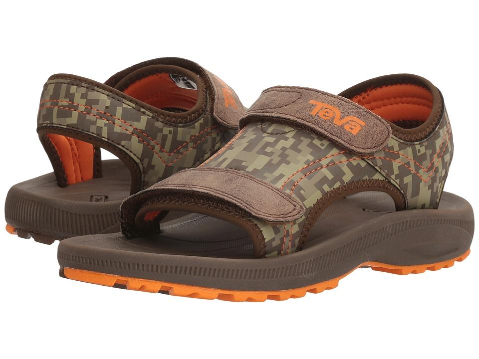 Teva Kids Psyclone 4 (Little Kid) (Brown Camo) Boys Shoes