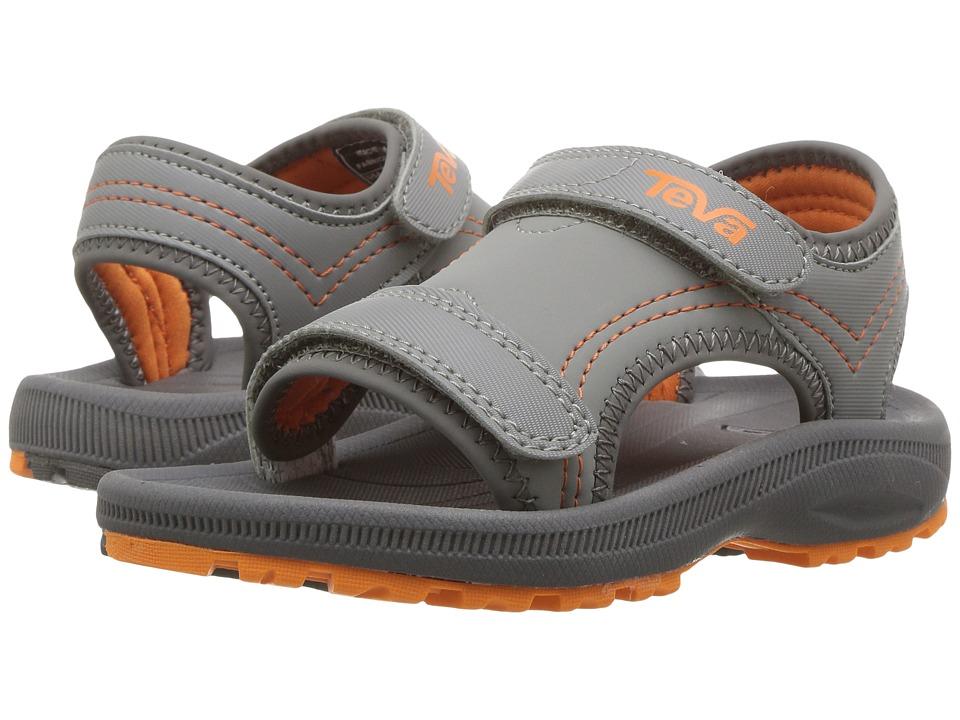 Teva Kids Psyclone 4 (Toddler) (Grey/Orange) Boys Shoes