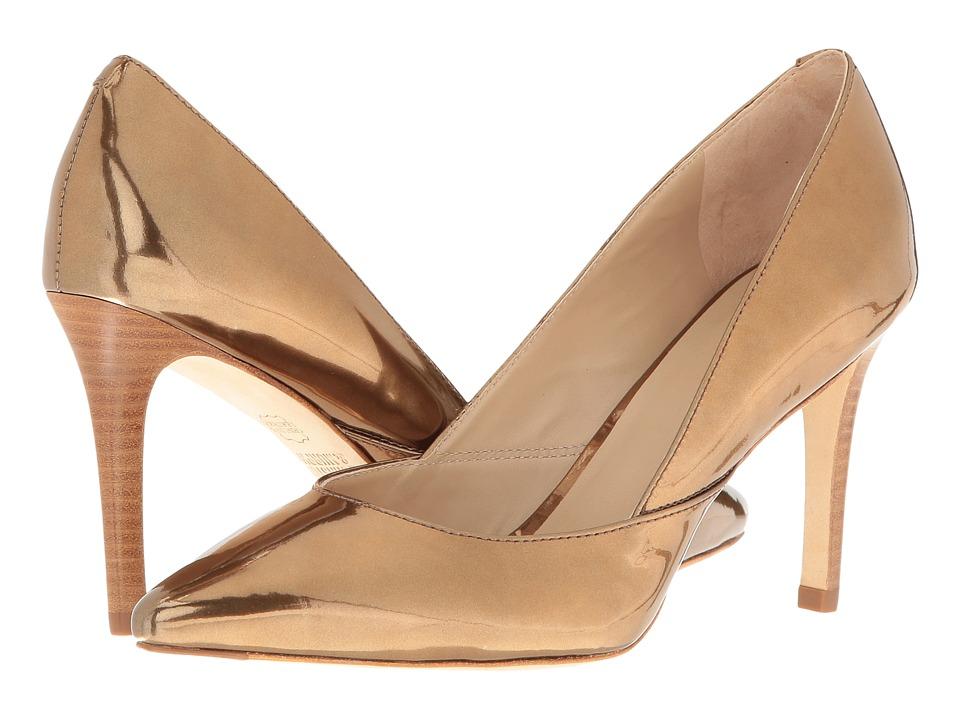 Johnston & Murphy Vanessa Pump (Bronze Italian Mirrored Metallic Leather) High Heels