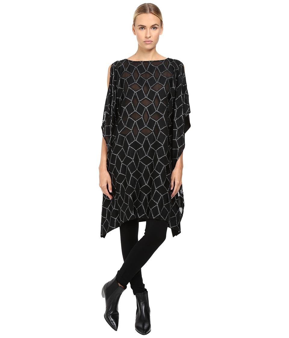 Limi Feu - Square Op Drape Top (Black) Women's Clothing