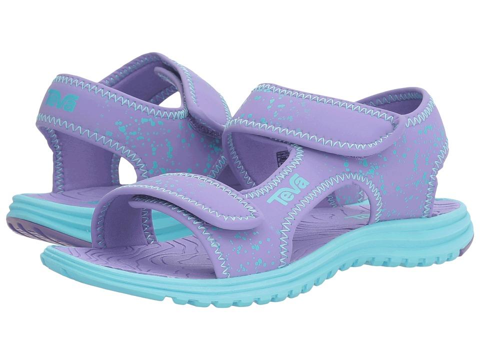 Teva Kids Tidepool (Toddler/Little Kid/Big Kid) (Purple/Scuba Blue Splatter) Girls Shoes