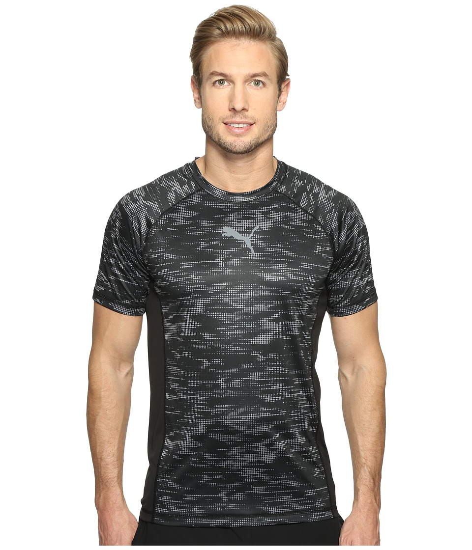 PUMA Vent Short Sleeve Graphic Tee (Puma Black/Quiet Shade) Men