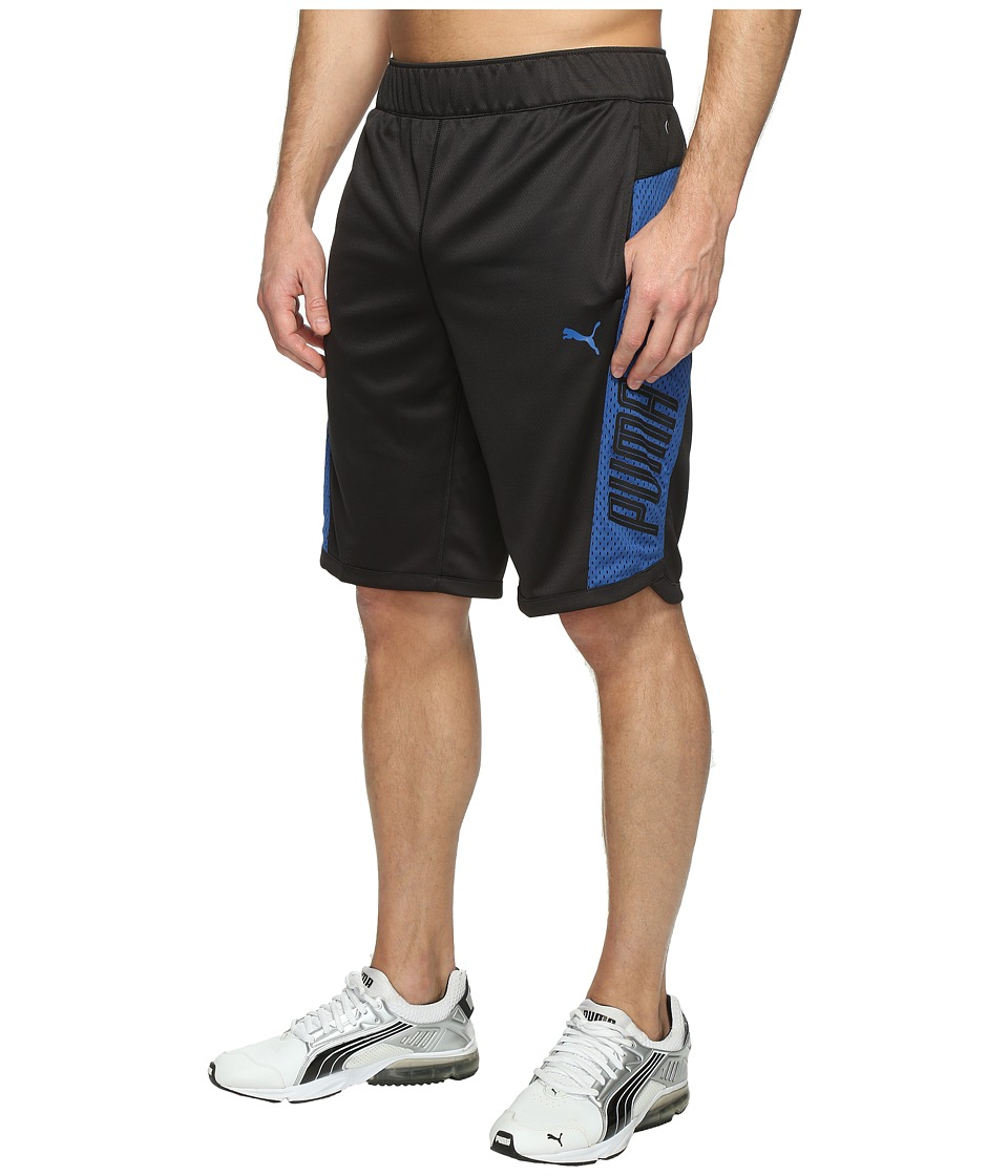 PUMA Motion Flex Training Shorts (Puma Black/True Blue) Men