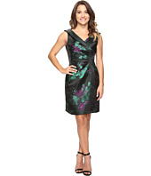 Tahari by ASL Petite - Petite Floral Print Side Ruche Sheath