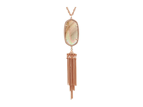 Kendra Scott Rayne Necklace - Rose Gold/Brown Mother Of Pearl