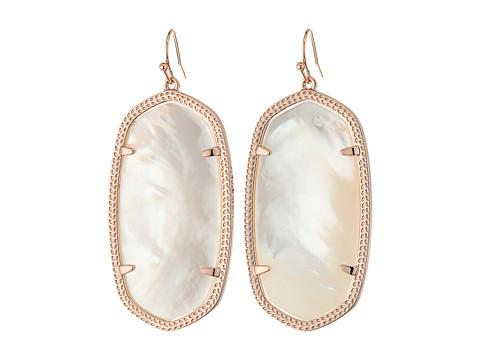 Kendra Scott Danielle Earrings - Rose Gold/Ivory Mother Of Pearl