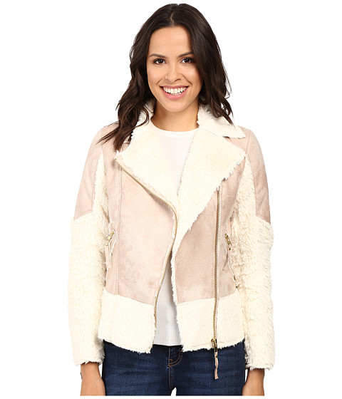 KUT from the Kloth Baylee Long Sleeve Bonded Coat - Pink/Ivory