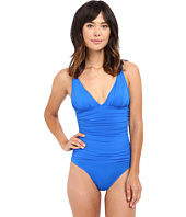 LAUREN Ralph Lauren - Beach Club Solids V-Neck One-Piece