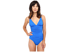 LAUREN Ralph Lauren Beach Club Solids V-Neck One-Piece
